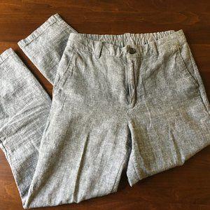 Uniqlo Gray Linen Trousers